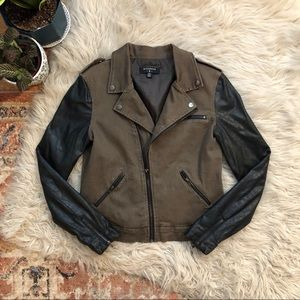 Urban Outfitters Faux Leather Moto Jacket